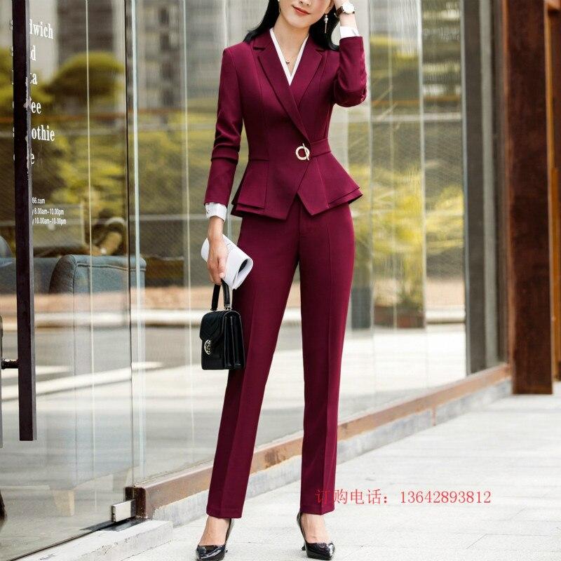 876ede095 Traje profesional para mujer-2019 Otoño e Invierno pantalones coreanos  primavera moda casual señoras traje de marea trajes dos piezas