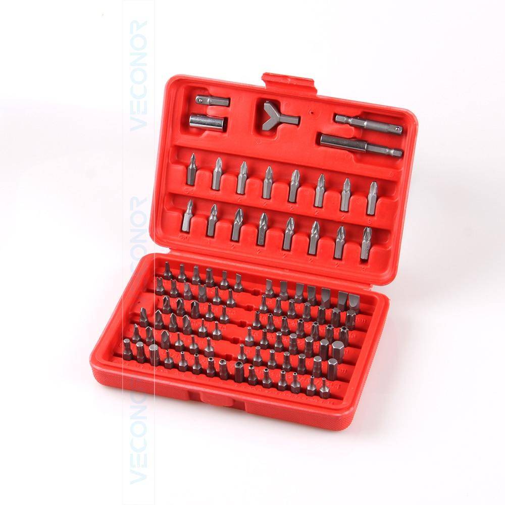 100pcs Screwdriver Bit Set Phillips Slotted Torx Hand Tools Parts Kit