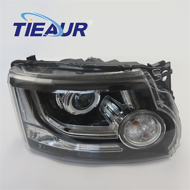 Headlight Xenon Light for LANDROV DISCOVERY 4 LR023536 LR023537 From 2010-2013 upgrade to 2014 years Without AFS Headlight With 3