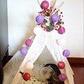 Novo tom Fúcsia-roxo-luz Rosa luzes da corda bola de algodão, estilo Tailandês, casamento, casa, partido, decoração de NATAL com EUA/AU/UK/plug UE