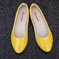 Новый Женская Обувь Повседневная Мода Леди Плоские Острым Носом Кожа вождение Работы Скольжения На Случайные Бездельников Обувь Мягкие Досуг Квартиры женский