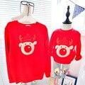 Новое семейство соответствующие наряды семейные Рождественские одежда мать и дети фуфайка толстовки плюс флис топы для семья посмотрите одежда