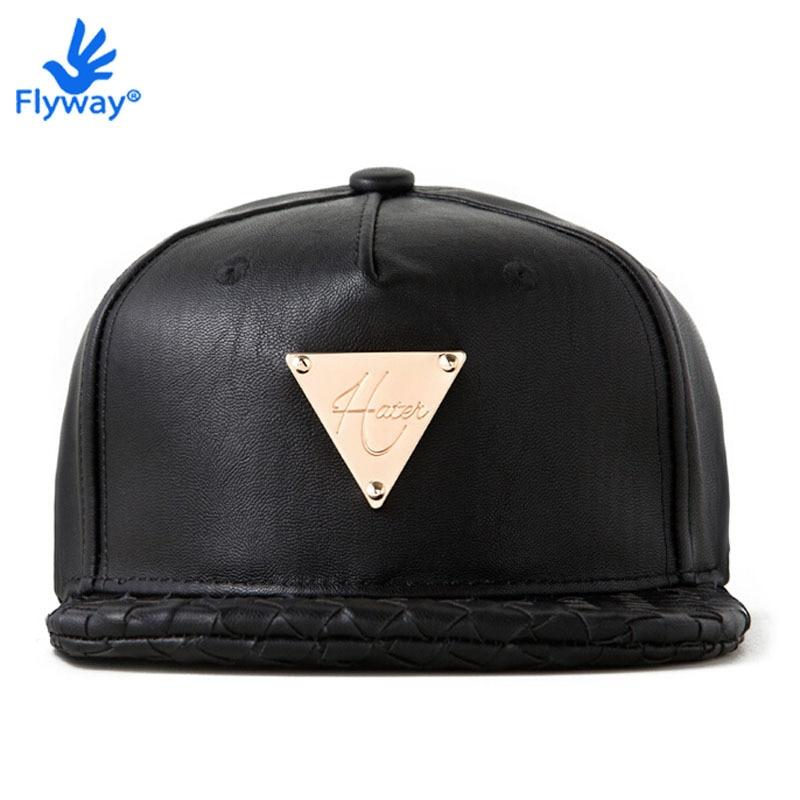 Hater Snapback Baseball Hat Original Adjustable Cap Hip Hop Swag 5 Panel  Bone Casquette BLACK GRAIN LEATHER INTRECCIATO BRIM a017677693d