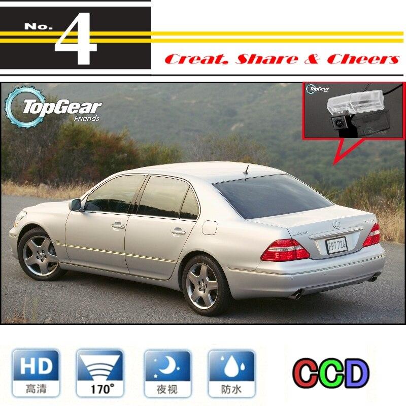 Cámara de coche para Lexus LS430 Celsior 2001 ~ 2006 cámara trasera de alta calidad para PAL/NTSC | CCD + RCA