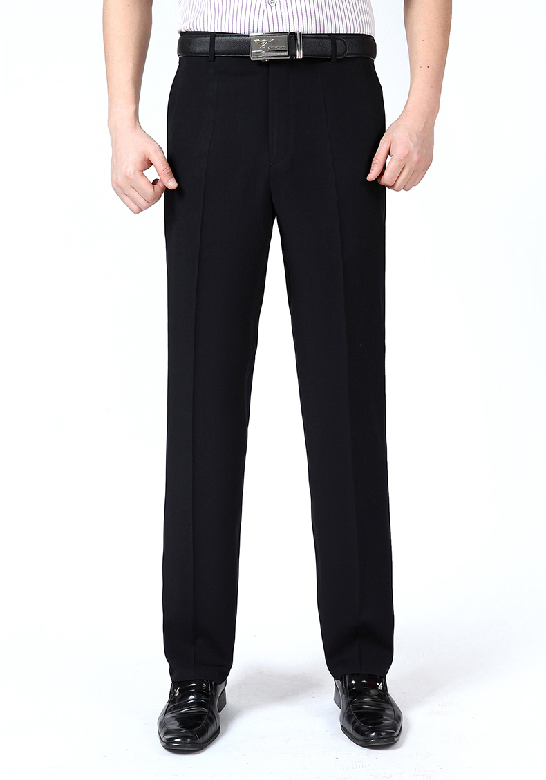 HTB1OARSmv1TBuNjy0Fjq6yjyXXaj Summer Men Business Thin Silk Pants 29-50 Male Big Size Formal Classic Black Breathable Office Baggy Suit Trousers For Mens