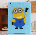 For iPad Mini 1/2/3 Case Silicone 3D Despicable Me Minion Soft Rubber Case Cover For Coque iPad Mini 123 Newest Drop Resistance