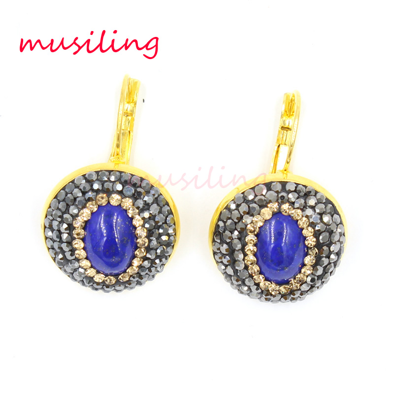 day gold dangle vintage earrings lazuli night a and lapis