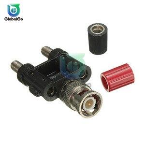 Connecteur BNC mâle à deux double prise banane 4mm connecteur adaptateur Coaxial connecteur multimètre convertisseur accessoires