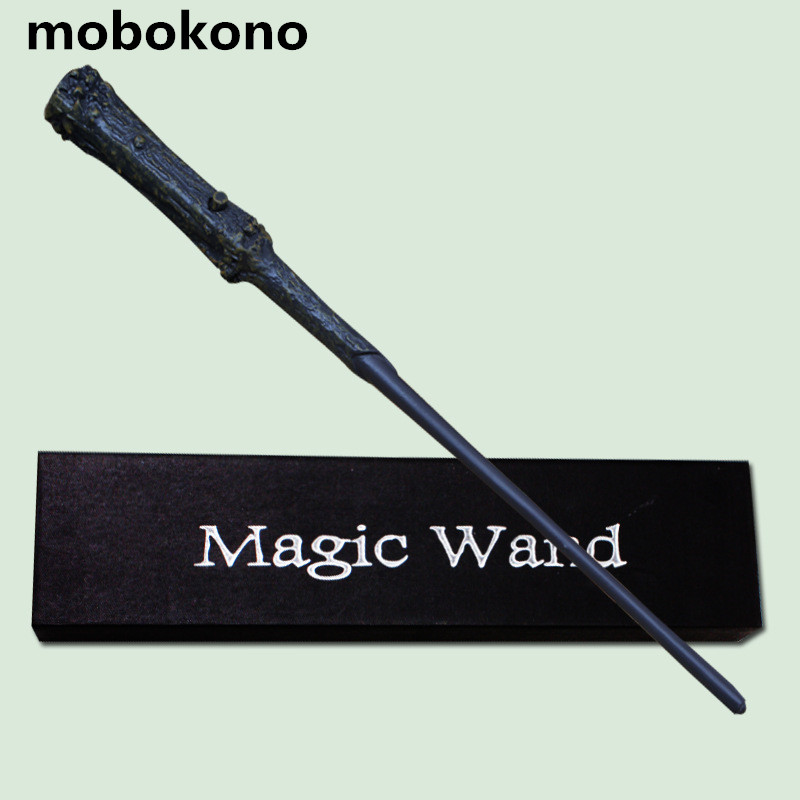 mobokono High Quality Gift Box Packing Magic Wand for Kids Cosplay Harry Magical Wand With LED Light