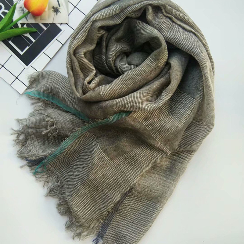 2018 Newest Women Solid Color Plaid Pattern Scarf  10Colors 10PCS/LOT