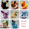 """8 estilos 5 """"Pocket Monster Peluches Umbreon Eevee Espeon Jolteon Vaporeon Flareon Glaceon Pok Relleno muñeca juguetes de los niños"""