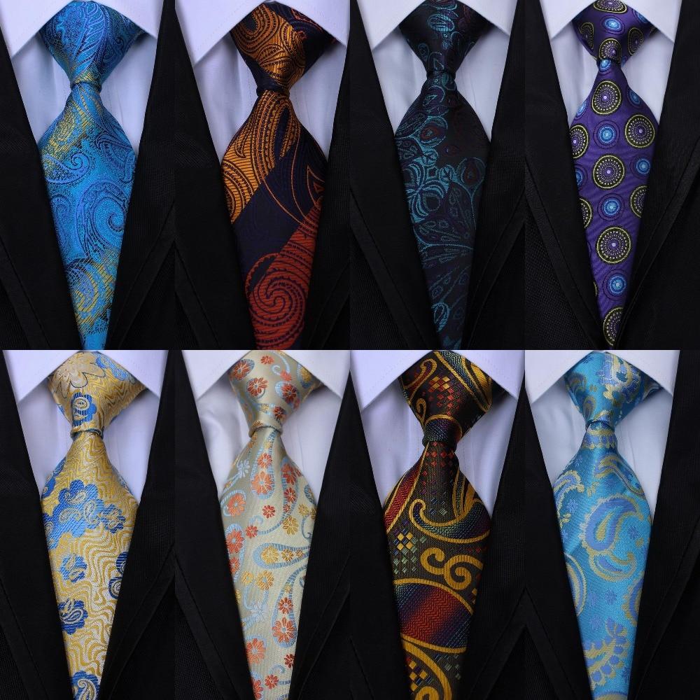 New Classic Florals Gray Blue White JACQUARD WOVEN 100/% Silk Men/'s Tie Necktie