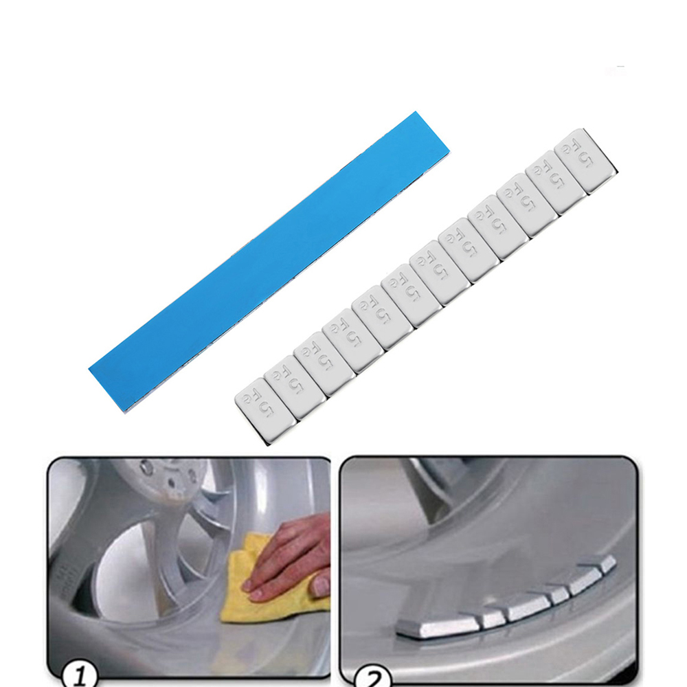 uxcell/® 5pcs Metal Self Adhesive Tire Tyre Wheel Balancing Weight for Auto Car Vehicle