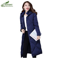 High Quality Down Cotton Outerwear Women Medium Long Leisure Loose Large Size Thicken Jacket Coat Women
