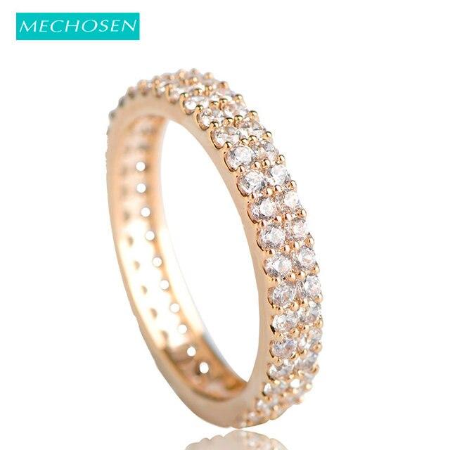 MECHOSEN Illuminati Splendid Stone Wedding Rings Gold Color Zircon Copper  Aneis Aros For Women Men Party Finger Jewelry Anillos 2d7fc30946fb
