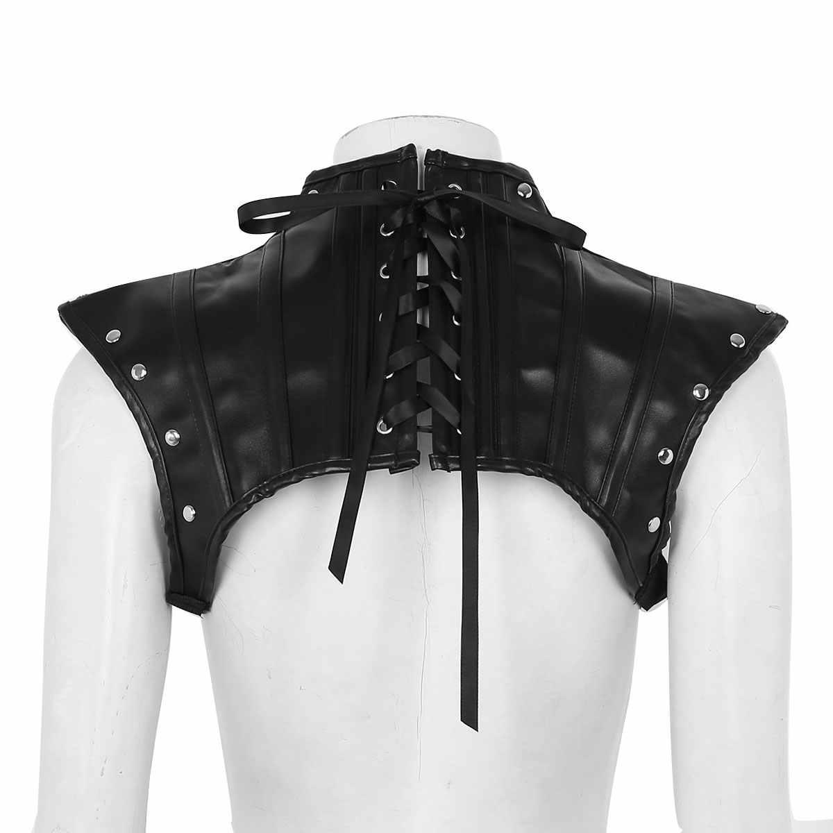 Сексуальные топы для женщин Клубная одежда для женщин s из искусственной кожи жгут сзади кружево на плечо Грудь Жгут рубашка Клубная одежда костюм половина майка