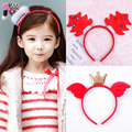 lovely children Christmas headband Korean package cloth girl head hoop buckle Christmas hat headdress hairpin hair