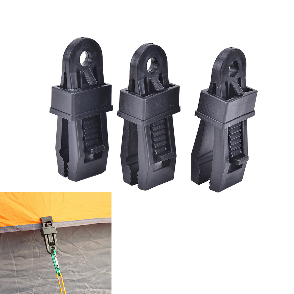 Awning Tarp Clamp Set Clips Hangers Survival Tent Emergency Grommet XDUK