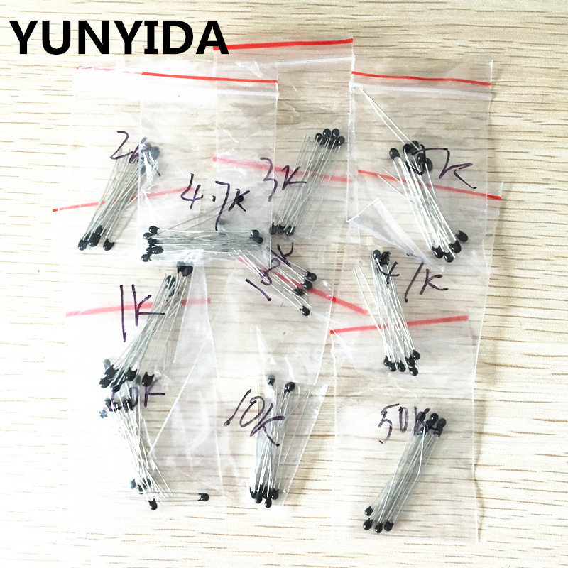 Free Shipping 100pcs=10value*10pcs NTC Thermistor Resistor Kit  NTC-MF52AT 1K 2K 3K 4.7K 5K 10K 20K 47K 50K 100K +-5% 3950B