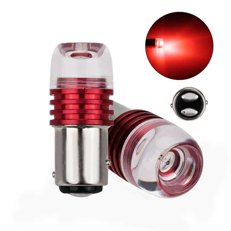 2PCS Red 1157 BAY15D P21/5W Strobe Flashing LED Projector Bulbs For Car Tail Brake Lights Auto Turn Signal Lamp Bulb