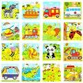 1 Шт. Животных Головоломки Деревянные Панда Головоломки Игрушки Для Детей Дети Образования И Обучения Развивающие Игрушки Головоломки Случайных Доставки