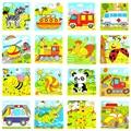 1 Pc Panda Animais Puzzle De Madeira Puzzle Brinquedos Para Kid Crianças Puzzles Brinquedos de Desenvolvimento do Ensino E da Aprendizagem Entrega Aleatória