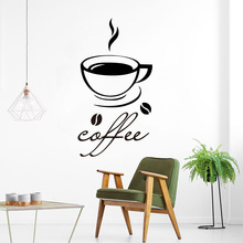 Modern coffee Wall Stickers Vinyl Waterproof Home Decoration Accessories Removable Sticker Kitchen Room Mural muursticker