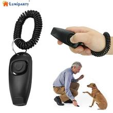 AsyPets 2в1 собака, щенок, домашние животные кошка обучение кликер свисток клик тренажер послушание черный-30