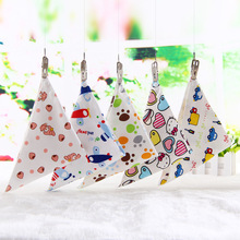 High Quality Baby Bibs Triangle Double Layers Cotton Baberos Cartoon Character Animal Print Baby Bandana Bibs Dribble Bibs