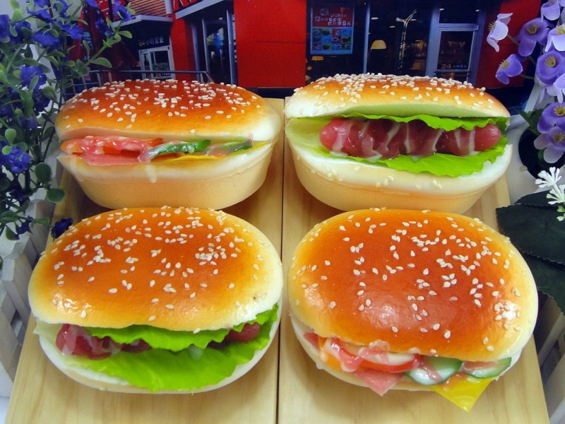 Simulation Hamburger Simulation Toy Slow Rebound Simulation Burger Model Children Simulation Food Toy