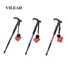 VILEAD 2Pcs/lot 53-110cm Nordic Walking Sticks Aluminum Adjustable Ultralight Outdoor Travel Hiking Poles Cane for elder
