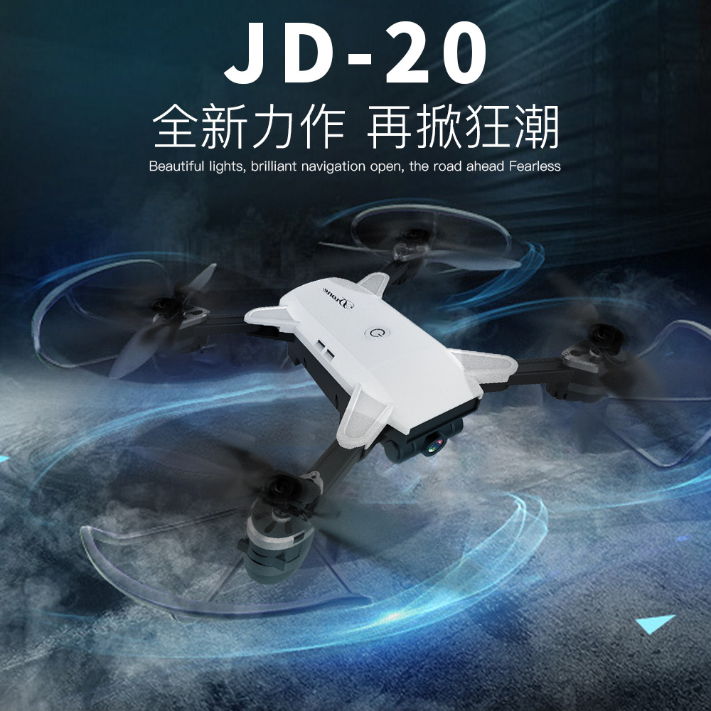 JD-20 Drone WIFI FPV With Wide Angle 720P HD Camera High Hold Mode Foldable Arm RC Quadcopter Drone Pocket Drone