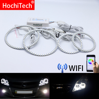 Wifi Wireless RGB Multi-Color LED Angel Eye Halo Rings Day Light DRL for Opel Astra H NON projector 2007 2008 2009 2010