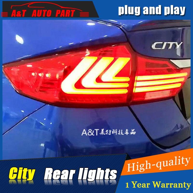Car styling Accessories for honda city rear Lights 2015 led TailLight honda city Rear Lamp DRL+Brake+Park+Signal lights led salt lake city park city provo