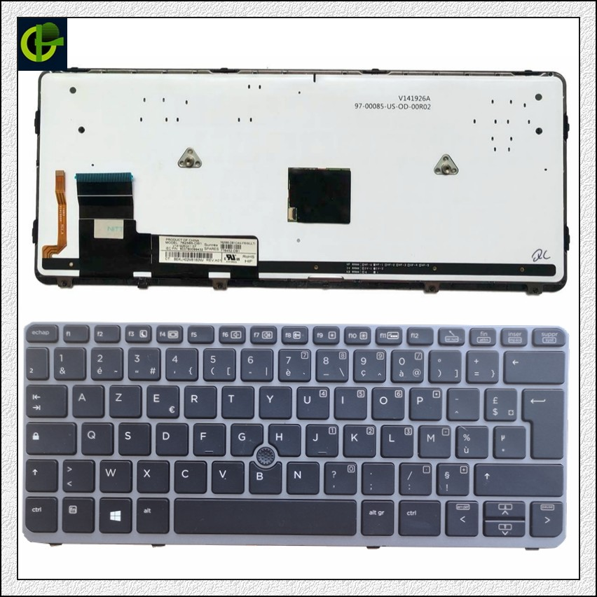 French Azerty Original Backlit keyboard for HP Elitebook 720 G1 720 G2 725 G2 820 G1