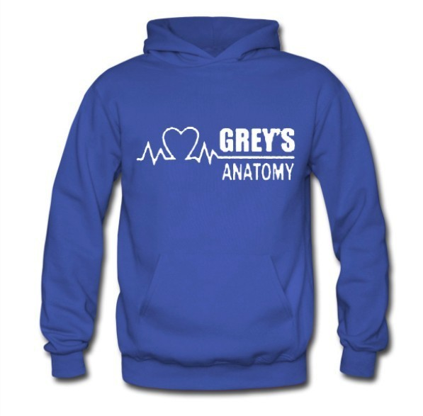 Free Shipping Mens & Womens Fashion Winter Autumn GREY'S ANATOMY Hoody Fashion GREY Hoodies
