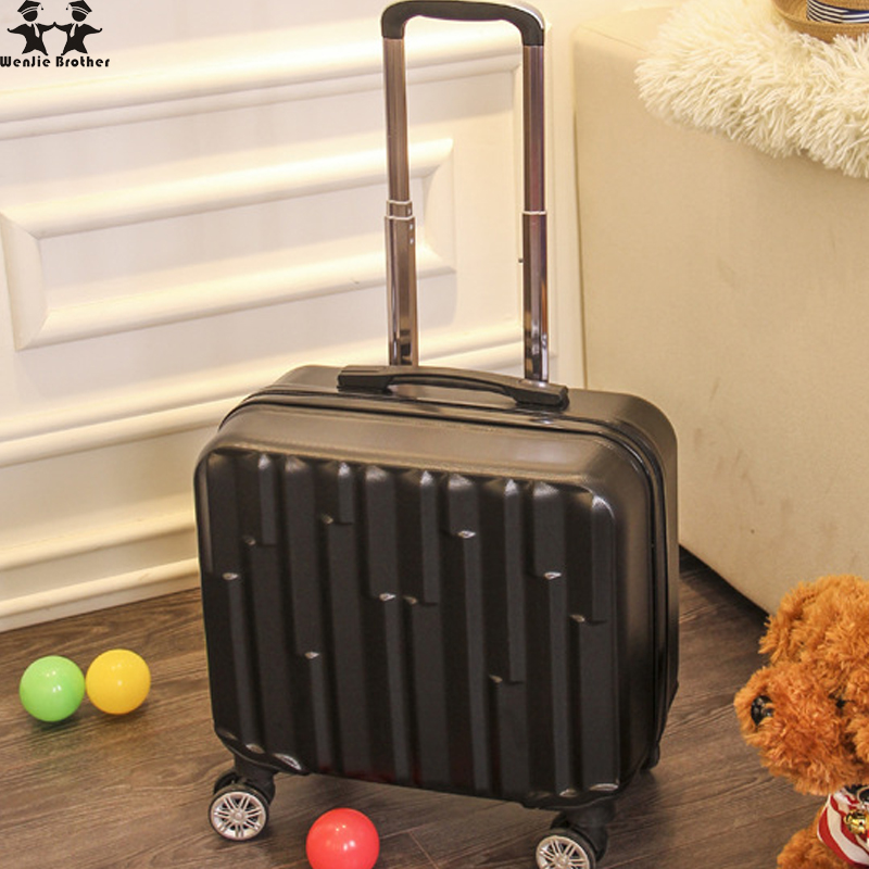 Wenjie brother 16 inch trolley case wheel mounted chassis wear 16 inch suitcase waterproof travel case rolling trolly luggage