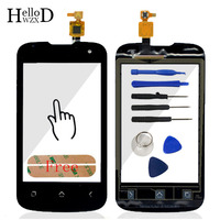 Touch Screen For FLY IQ246 IQ 246 Touch Digitizer Panel Front Glass Phone Parts Repair Lens Sensor Flex Cable Tool Free Adhesive