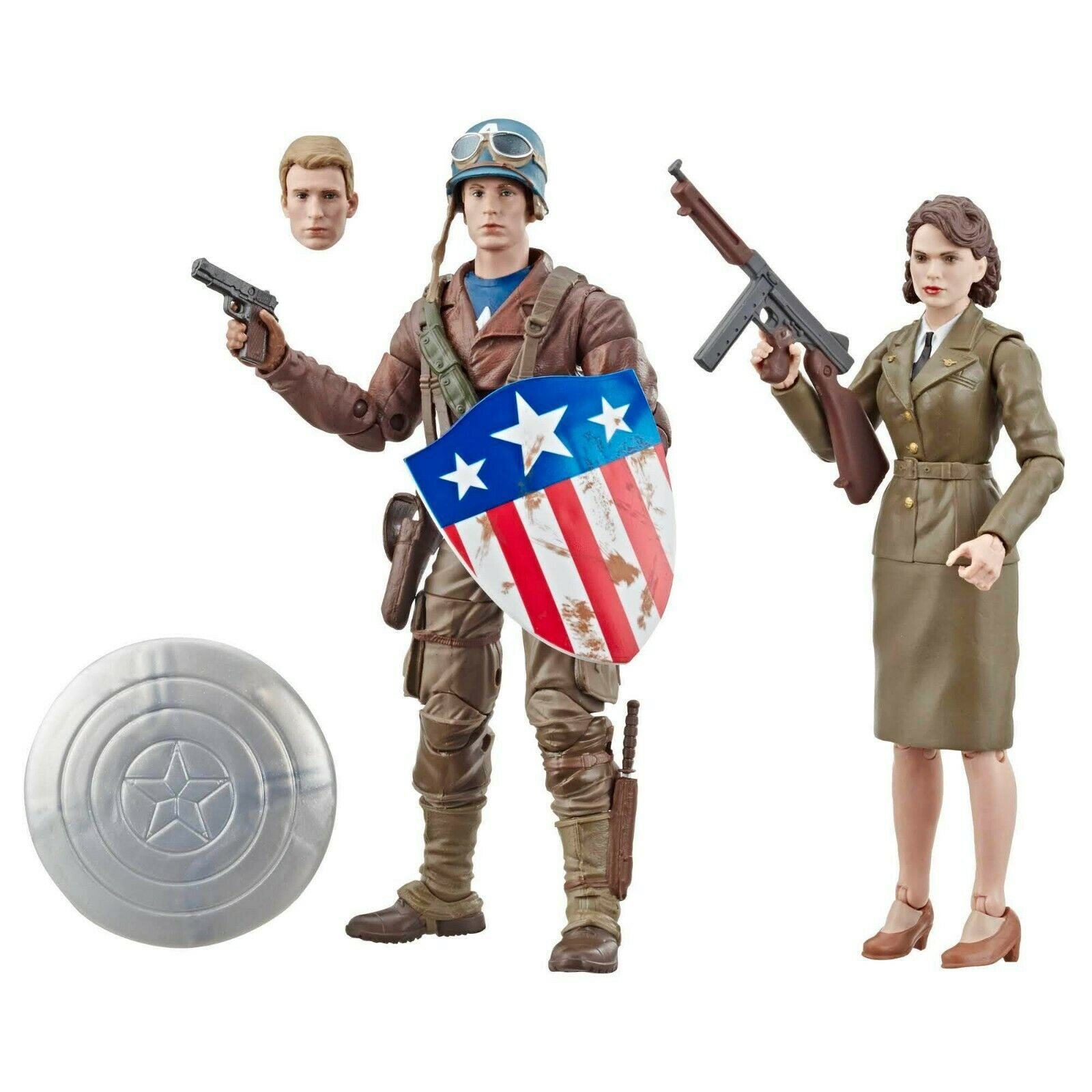 Marvel Legends Captain America & Peggy Carter 2 Pack Movie 6