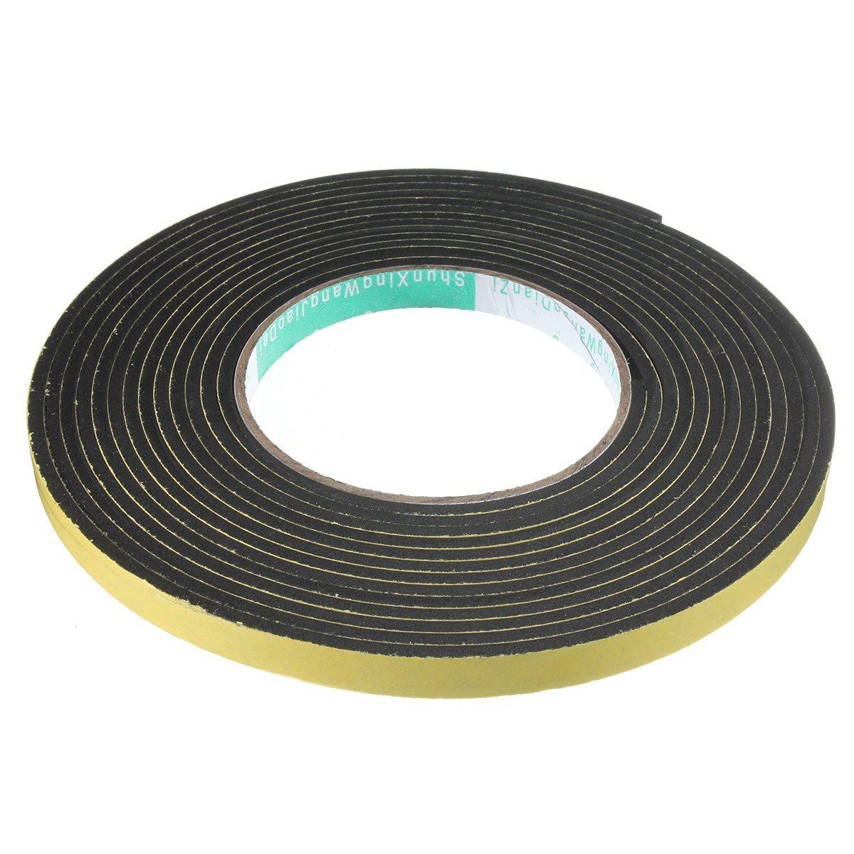 1Pcs Single Sided 5Mx10mm Adhesive Waterproof Weather Stripping Foam Sponge Rubber Strip Tape For Window Door Seal Strip