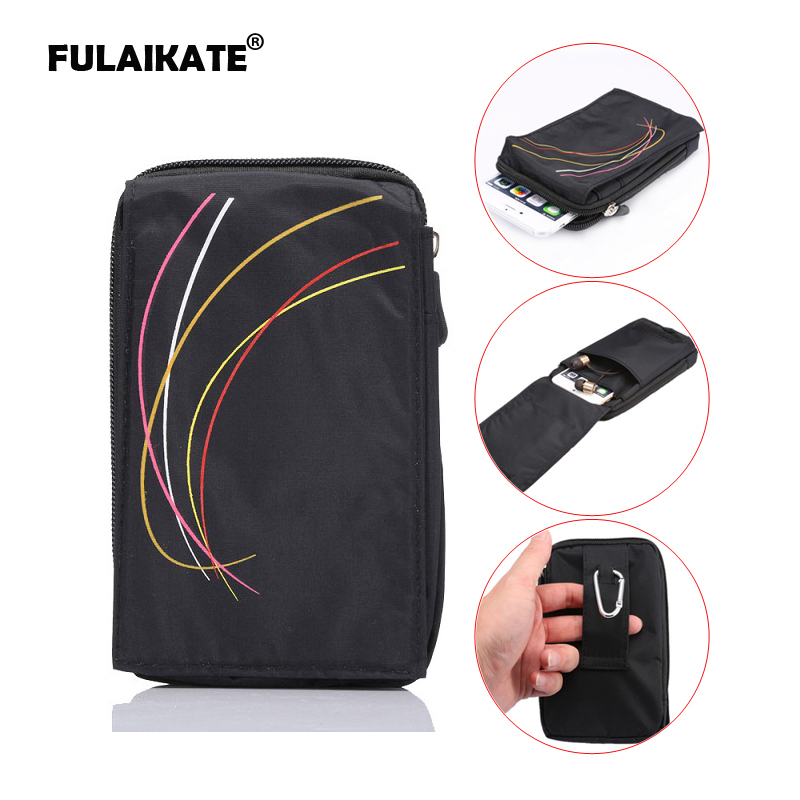 FULAIKATE Universal Wallet Bag for iPhone 6 Plus Climbing Case for iphone6 Mobile Phone Sports Leisure Bags for Samsung S6