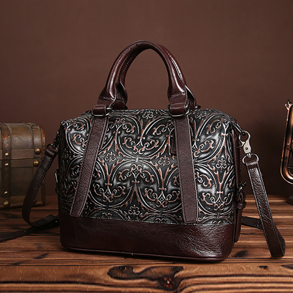 ef90123e4 Fashion Women Genuine Embossed Leather Handbag Vintage Trend Casual Female  Crossbody Messenger Shoulder Bag Ladies Tote Bags New-in Top-Handle Bags  from ...