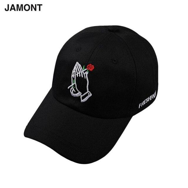 abd2e900c8a31 Gorra de béisbol con bordado de rosas para mujer gorra de Snapback  ajustable para hombres gorra