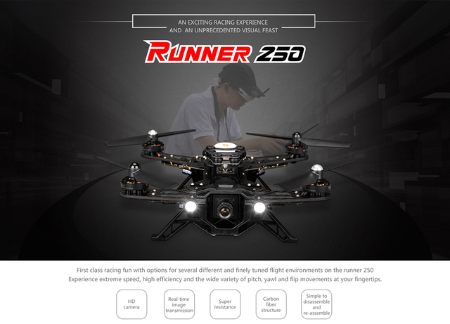 F15608 Walkera Бегун 250 FPV Drone Quadcopter RTF с DEVO 7 Передатчик Основные 1