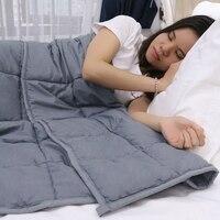 Хлопок взвешенный Одеяло помощи декомпрессии сна Одеяло улучшить сон облегчение тревоги тяжести Одеяло Стёганое одеяло тяжелых Одеяло