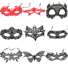 Wholesale Black Red White Lace Masks for Halloween Girls Women Sexy Lady Masquerade Party Fancy Dress Costume