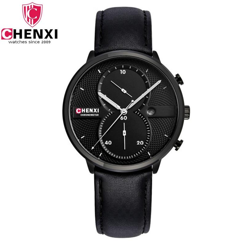 CHENXI Unikátní pánské hodinky Unikátní stylový černý - Pánské hodinky