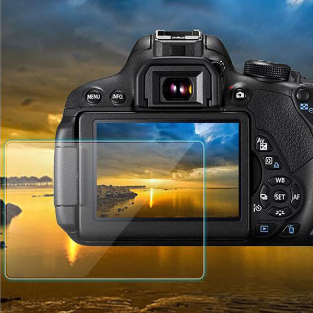 Tempered Glass Protector Guard Cover for Canon EOS 60D 600D 550D M M2 Kiss X5 X4 Rebel T3i T2i Camera LCD Screen Protective Film