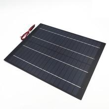 20 Вт 1.1A мини ПЭТ поликристаллический PV модуль солнечные панели 18 В в Вт 20 Вт заряда клеток для 12 В в зарядное устройство Вт