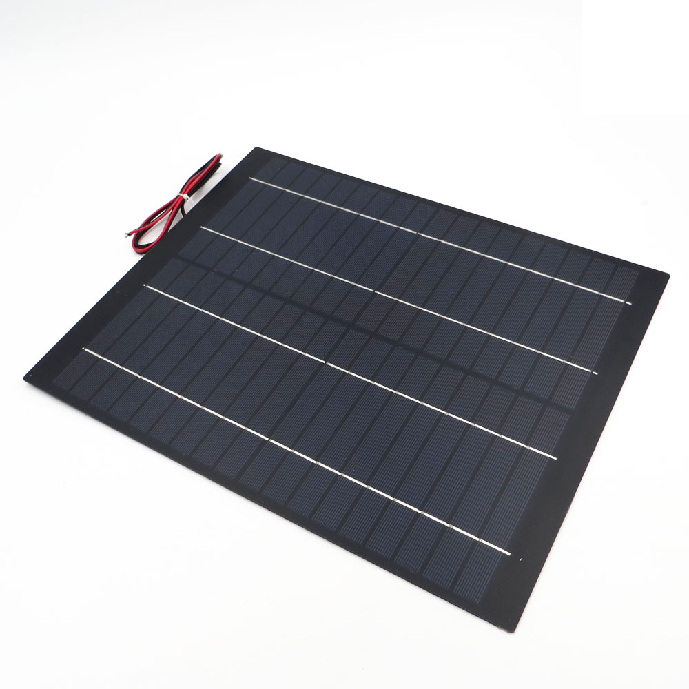 Image 2 - 2pcs x 20Watt Solar Panel 18V 20W 1.1A Mini PET polycrystalline PV module cell charge for 12V battery Charger 20 watts W Watt-in Solar Cells from Consumer Electronics